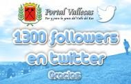 Más de 1300 followers en twitter