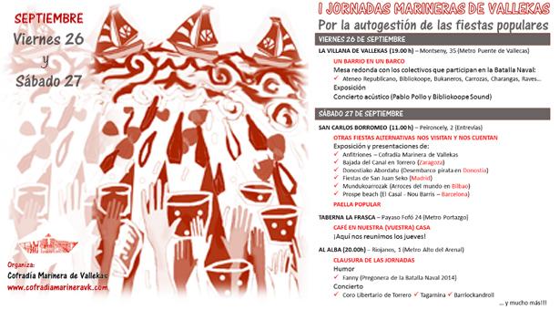 I Jornadas Marineras de Vallekas - 26 y 27 de Septiembre