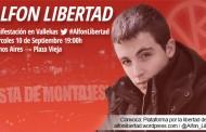 Manifestación en Vallecas y concentraciones en apoyo a Alfon