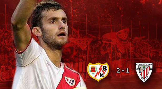 El Rayo gana al Athletic 2-1