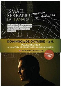 cartelconciertoisamelserrano-Vallecas-05-10-2014