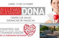 Donación de sangre hoy en el Centro de Salud Ensanche de Vallecas - 13 Octubre