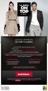 """Cartel de la II edición del concurso """"ON TOP"""""""