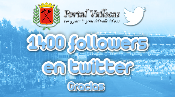 Más de 1400 followers en twitter
