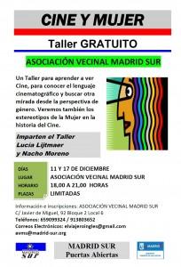 """Cartel del taller """"Cine y Mujer"""""""