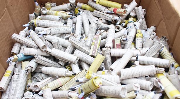 Intervenidos 34.000 productos pirotécnicos en dos comercios de Puente de Vallecas
