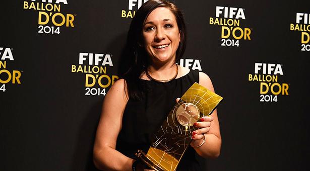 Nadine Keßler en la gala del Balón de Oro de la Fifa