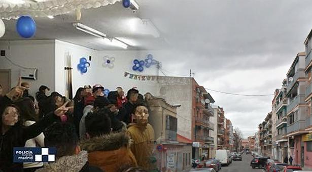 La policía desmantela una fiesta ilegal con sobreaforo y alcohol a menores en Puente de Vallecas