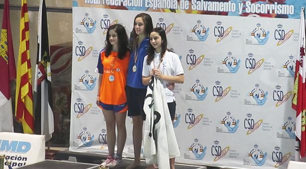 La vallecana Ainhoa Parrondo Almagro en el podio