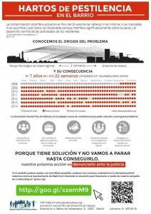 Cartel informativo - Contaminación odorífera de Valdemingómez