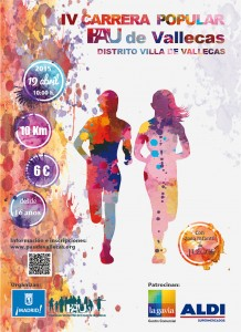 Cartel IV carrera Pau de Vallecas 2015