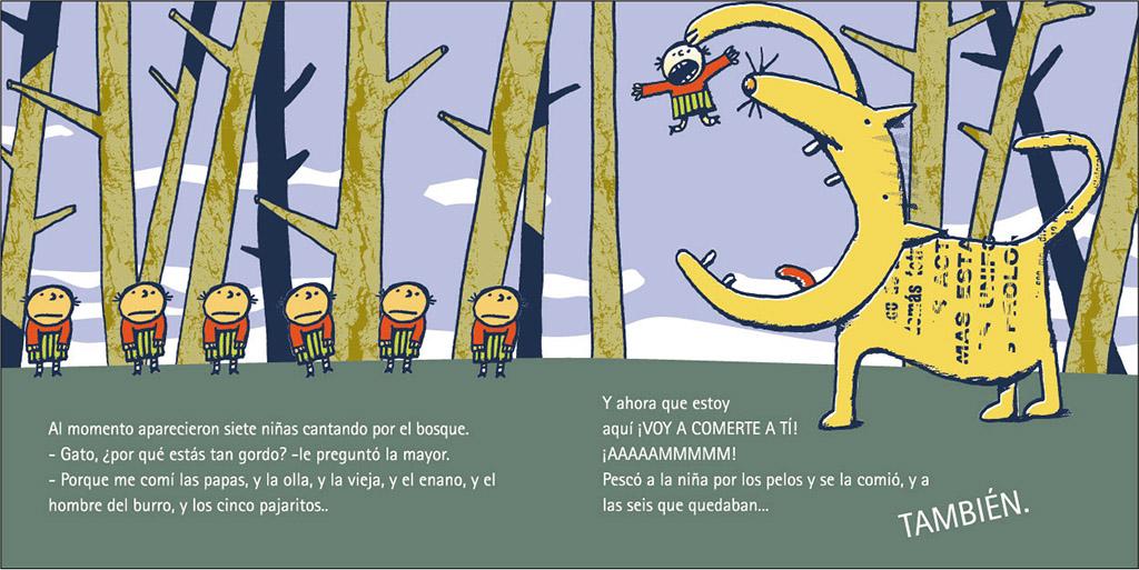 Ejemplo de una ilustración del cuento