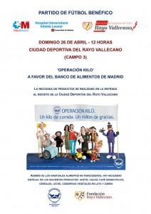 Cartel - Partido benéfico HUIL - Rayo 26-04-2015