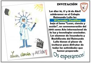 Invitación a las IV Jornadas Científicas del Colegio Raimundo Lulio