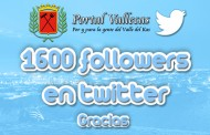 Más de 1600 followers en Twitter
