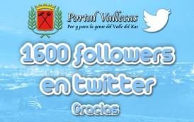 Más de 1600 followers en Twitter
