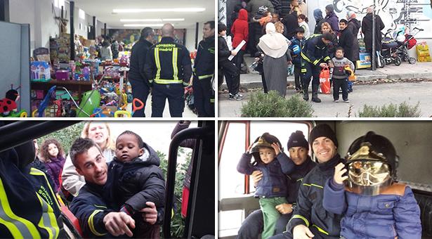 Fotos de 'Bomberos ayudan' con los peques en San Carlos Borromeo