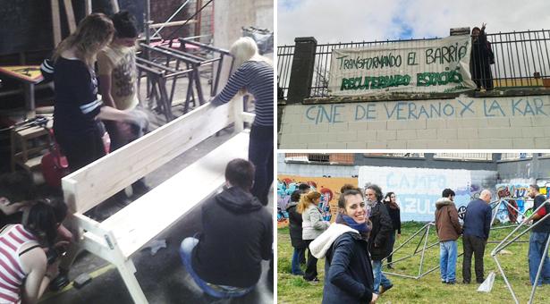 Trabajos en el Campo Azul de Vallecas