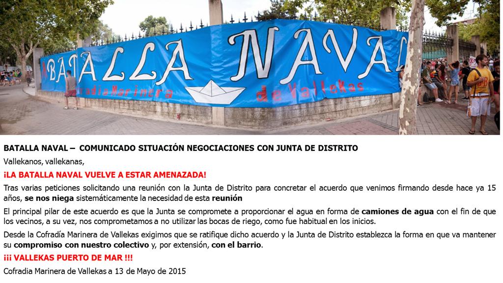 Reclamación a la Junta del Distrito de Puente de Vallecas