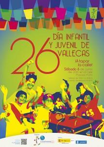 Cartel del XXVI Día Infantil y Juvenil de Vallecas