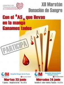 Cartel del XII Maratón para donación de sangre
