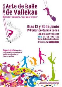 Cartel de la XVII Muestra de Arte de Kalle del Pueblo de Vallekas