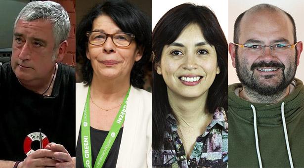 Paco Pérez, Inés Sabanés, Rommy Arce y Pablo Carmona