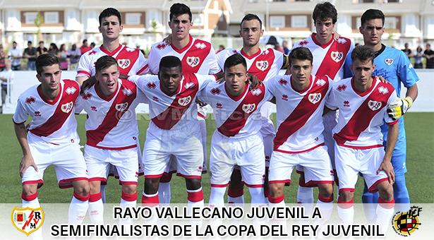 El Rayo Vallecano Juvenil A alcanza la semifinal de la Copa del Rey