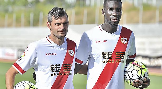 Cissé y Dorado presentados oficialmente como nuevos jugadores del Rayo Vallecano