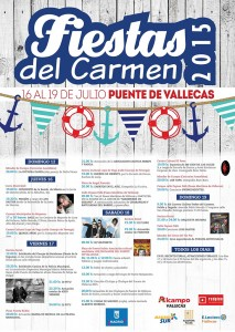 Cartel de las Fiestas del Carmen 2015 en Vallecas