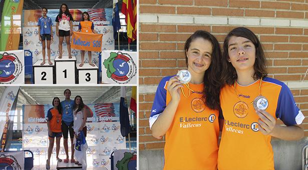 Ainhoa Parrondo (categoría 50 metros arrastre cadete) y Mara Quiles (categoría 25 arrastre infantil)