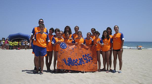 Socorristas de Vallecas SOS en la Playa San Juan en Alicante