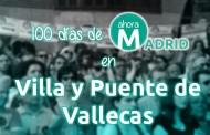 100 días de Ahora Madrid en Villa y Puente de Vallecas