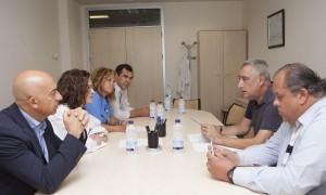 Reunión de la directiva del Hospital y el Presidente de ambos distritos de Vallecas