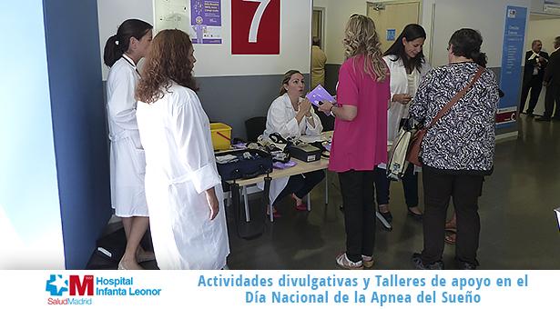 Charlas y mesa informativa en el Día Nacional de la Apnea del Sueño en el Hospital Infanta Leonor