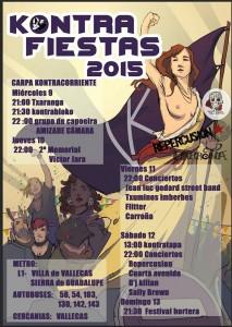 Cartel de las Kontrafiestas 2015