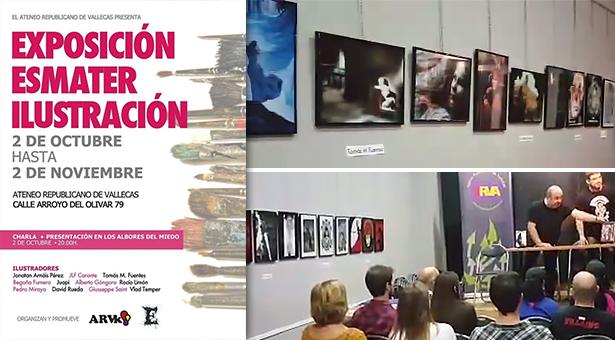 Exposición Esmater Ilustración en el Ateneo Republicano de Vallecas