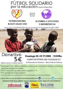 Fútbol Solidario por la educación 'Idea Libre'