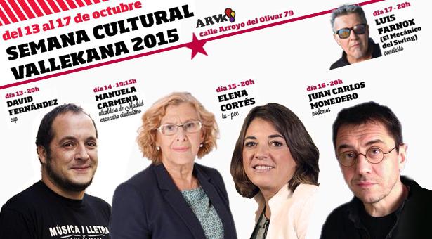 Semana Cultural Vallekana 2015 en el Ateneo Republicano de Vallecas