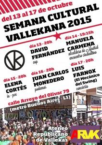 Cartel de la Semana Cultural Vallekana 2015 - Ateneo republicano de Vallekas