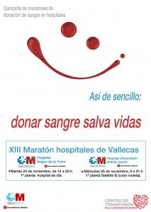 Cartel de la XIII Maratón de donaciones