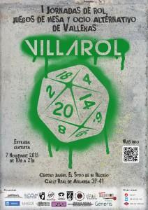 Cartel de la I Jornada de VillaRol