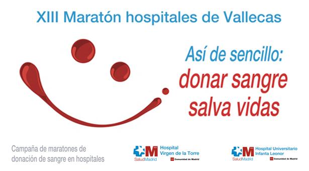 XIII Maratón de donación de sangre en los hospitales de Vallecas - 24 y 25 de Noviembre