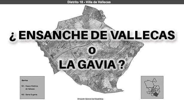 Nuevo barrio administrativo ¿se llamará Ensanche de Vallecas o La Gavia?
