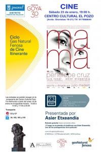 Cartel del evento - Ciclo de Cine Itinerante Premios Goya 2016
