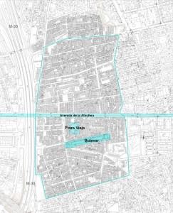 Mapa del área de actuación