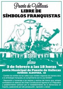 Cartel informativo del Pleno (Ahora Madrid)