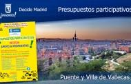 Propuestas de los Presupuestos participativos en Puente y Villa de Vallecas - Decide Madrid