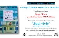 Presentación de 'Aquí vivió' la novela gráfica de Isaac Rosa en la librería Muga de Vallecas