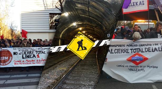Atraso de las obras de la Línea 1 de Metro, Servicios Especiales de Autobús y manifestaciones en Vallecas